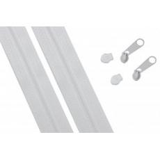 Zip spirálový bílý 3 mm metráž