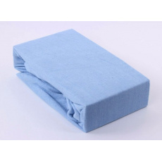 Exclusive Froté prostěradlo dvoulůžko - modrá 180x200 cm  varianta modrá světlá